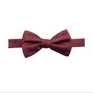 Ryan Seacrest Distinction Mens Silk Bow Tie Red